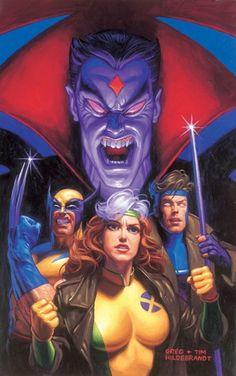 X-Men vs Mister Sinister by Greg & Tim Hildebrandt