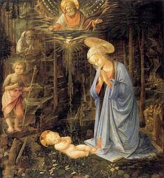 Fra Filippo Lippi ~ Adoration of the Christ Child (Adoration in the Forest), c.1459