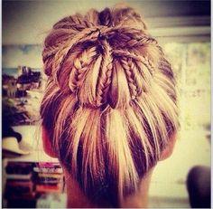 Bun braids... Cool Hair Style