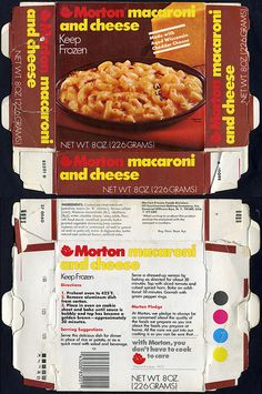 Morton Macaroni and Cheese box - 1970s | Flickr - Photo Sharing!