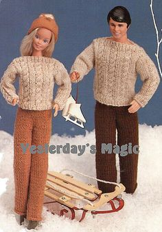 Instant Download PDF Vintage KNITTING PATTERN by YesterdaysMagic