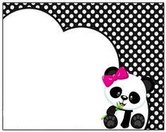 Professora Tati Simões: Kit Panda Preto, branco e rosa para imprimir grátis Panda Birthday Party, Panda Party, 9th Birthday, Ep1 Cap Petite Enfance, Panda Icon, Panda Baby Showers, Birthday Girl Quotes, Book Labels, Penguin Craft