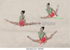 Rio De Janeiro, Brazil. 21st Aug, 2016. The Spanish gymnasts compete to win silver in the rhythmic gymnastics group all-around final (Rotation 2) at Rio Olympic Arena at the 2016 Summer Olympic Games. Credit:  Stanislav Krasilnikov/TASS/Alamy Live News - Stock Image