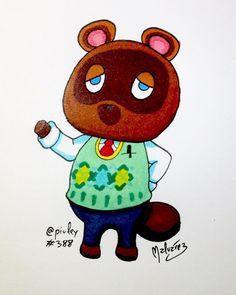 #TomNook from #AnimalCrossing  Lo admito. Soy fan de la saga Animal Crossing. La descubrí con #WildWorld en #Nintendo #DS y quedé enganchado. Es el único videojuego que es capaz de hacer que juegue cada día incluso años después de empezarlo. Con #NewLeaf han sido capaces de reinventarse y lo he vuelto a disfrutar como el primero. Tom Nook es prácticamente el primer personaje que conoces pues es quien te pone la casa así que es uno de los iconos esta saga.  #fanart #illustration #draw…
