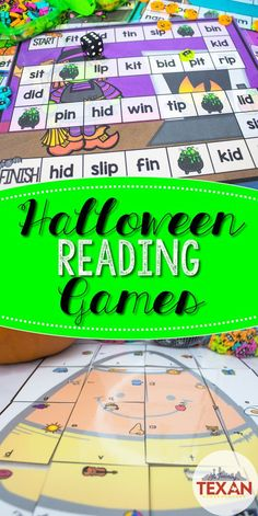 Reading games are nothing to be scared of! These Halloween literacy center games are perfect for centers in Kindergarten and some First Grade classrooms. Letter recognition, letter sounds, CVC blending and segmenting, rhyming, sight words, word family recognition, critical thinking, it's all included!