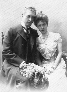 Engagement photo of King and Queen of Belgium when they were Duchess Elisabeth of Bavaria and  Prince Albert of Belgium. 1899/1900