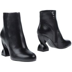 Opening Ceremony Ankle Boots (15.375 RUB) ❤ liked on Polyvore featuring shoes, boots, ankle booties, black, leather ankle boots, black leather boots, black ankle boots, short leather boots and leather boots
