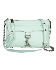 Rebecca Minkoff Mini M.A.C. Clutch in Mint// one day I will own one of these