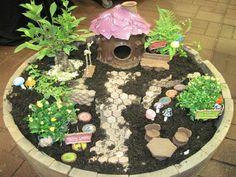 Garden: Marvelous Fairy Garden Idea Using Small Container And ...