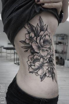 alex-tabuns peony tattoo