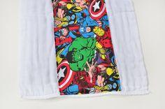 Baby Burp Cloth - Marvel Comics Super Hero - Baby Shower Gift or New Mom Gift Idea via Etsy