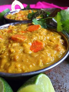 Vegan Carrot Kootu (Thick Coconut Curry with Lentils)