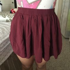 Circle skirt Gently used condition has wear to it but still lots of life left. It is a mini skirt. One size. But it looks like a small. Brandy Melville Skirts Mini