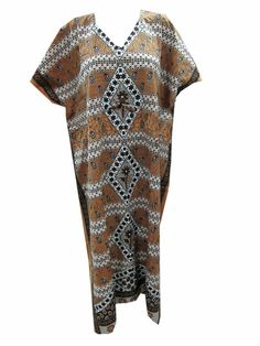 Lovely Cotton Kaftan Dress Beach Wear Boho Gypsy Caftan