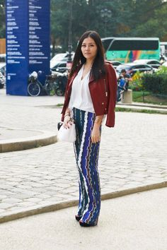 Colorful prints are making a statement on the streets of Paris