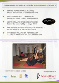 CURSOS PILATES SPRINGBOARD NIVEL I EN ESPAÑA...  Quieres realizar  cursos en tu centro, España, Europa.,pidenos informacion a  info@pilatesspringboard.com