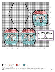 SANTA BASKET 2 Plastic Canvas Coasters, Plastic Canvas Crafts, Plastic Canvas Patterns, Plastic Canvas Christmas, Christmas Bags, Christmas Ideas, Christmas Crafts, Christmas Ornaments, Santa Canvas