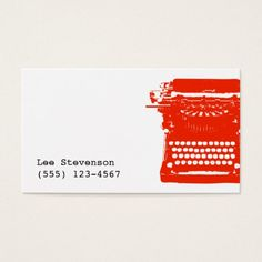187 best writer business cards images on pinterest business cards writer typewriter business card colourmoves