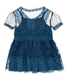 Look what I found on #zulily! Cobalt Blue Lace Dress by Baby Loo #zulilyfinds