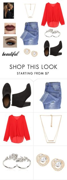 """""""Untitled #703"""" by ramisha405 on Polyvore featuring Taya, WithChic, Forever 21, Apples & Figs and Swarovski"""