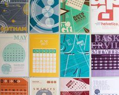12 Month Typeface Calendar by Lauren Coleman, via Behance