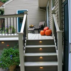 "Want to learn more about deck lighting and how to choose the best lights for your outdoor living space? Check out our post, ""Deck Lighting 101,"" and contact Decks R Us with any questions or concerns you have about deck lighting! We're offering FREE estimates, and we'll be more than happy to help! #decklighting #decklights #customdecks"