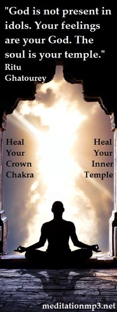 The Crown Chakra Meditation mp3, healing your connection to the universe, deepening your spiritual side and elevating your ability to achieve your dreams and fulfilment. Your Soul Is Your Temple, heal it, strengthen it and amazing things happen in your life! Stephen :)