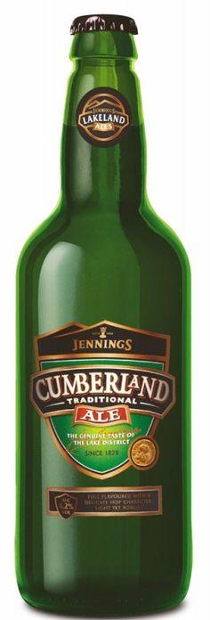 Cerveja Cumberland Ale, estilo Blond Ale, produzida por Jennings Brewery, Inglaterra. 4.7% ABV de álcool.