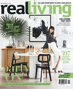 @reallivingmag #magazines #covers #november #2016 #home #style #interiors #design #renovate #update #shopping #ideas