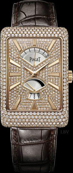 Pink gold Diamond retrograde seconds Watch - Piaget Luxury Watch | LBV ♥✤