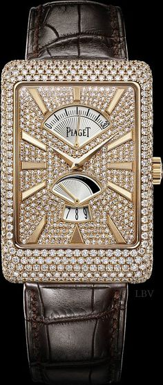 Pink gold Diamond retrograde seconds Watch - Piaget Luxury Watch | LBV ♥✤