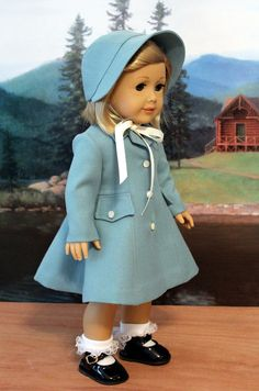 Vintage Style Coat and Hat for American Girl Doll by BabiesArtUs, $89.00
