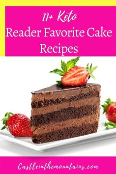 This is the big list favorite Keto Cake Recipes. If you're looking for chocolate, carrot cake, cheesecake or mug cake, the best are here. Peanut Butter Recipes, Paleo Recipes, Low Carb Recipes, Easy Diets To Follow, Easy Mug Cake, Pumpkin Cake Recipes, Keto Chocolate Cake, Shortcake Recipe, Rich Recipe