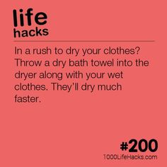 The post #200 – How To Dry Your Clothes If You're In a Rush appeared first on 1000 Life Hacks.