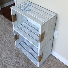 Diy crate bookshelf for nautical nursery. Diy crate bookshelf for nautical nursery. Nursery Bookshelf, Crate Bookshelf, Bookshelves Kids, Book Shelves, Rustic Bookshelf, Baby Boy Rooms, Baby Boy Nurseries, Baby Room, Kids Rooms