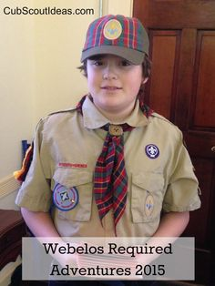 Webelos required adventures - New for 2015