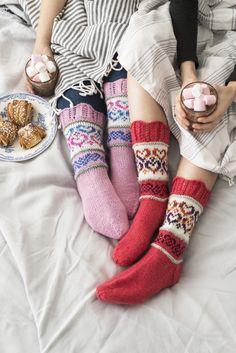 Sydänystävät-sukat Novita 7 Veljestä ja 7 Veljestä Polaris | Novita knits