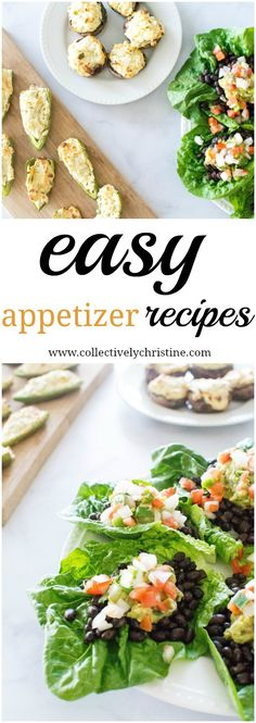 Jalapeno poppers, stuffed mushrooms and lettuce wraps for your next party. These are really easy, no-brainer recipes that anyone came make.#ShareTheGoodness #GoodFoods