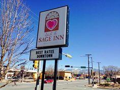 ニューメキシコ州サンタフェのモーテル Sage Inn。かつてはBUDGET INNだった・・・