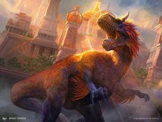 Burning Sun's Avatar MtG Art by Randy Vargas