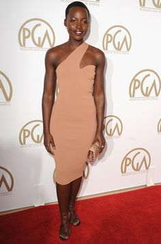 Lupita Nyong'o in Nude Dress at the Producers Guild Awards. Stella McCartney I'm in love with nude looks lately.