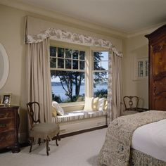 Window Drapes With Box-pleat Valance Design, Pictures, Remodel, Decor and Ideas - page 2