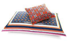 Tamara Magel's Pattern Pillows: Tamara Magel's lively African prints.