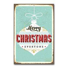 "weihnachtliche Wanddekoration Blechschild ""merry christmas everyone"" / ca. 30x45 cm / Weihnachtsdeko / vintage Cuadros lifestyle http://www.amazon.de/dp/B00OUWM9OE/ref=cm_sw_r_pi_dp_faZyub19NBGE5"