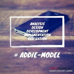 How can the #ADDIE-model support you to create successful #elearning courses? — digitaleducation.tv - einfach.effizient.lernen mit videobasierten E-Learnings in SCORM E Learning, Learning Courses, Instructional Design, Models, Design Model, Success, Create, Blog, Training