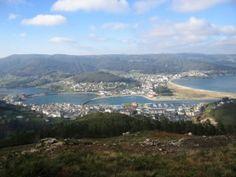 Vista de Viveiro desde el monte San Roque