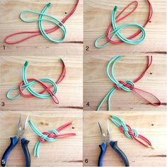 DIY: Trendiges Leder-Armband für den Sommer DIY Trendy leather bracelet for the summer By CHAMY Life Jewelry Knots, Bracelet Knots, Bracelet Cuir, Bracelet Crafts, Diy Jewelry, Bracelet Making, Fashion Jewelry, Diy Fashion, Vintage Jewelry