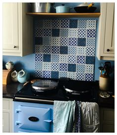 Our lovely handmade Chateaux tiles by The Winchester Tile Company.