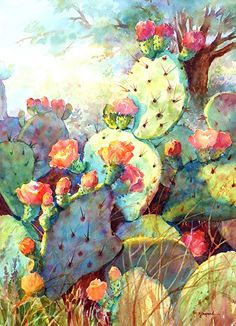 SPRING SPLENDOR by Mary Shepard Watercolor ~ 29 x 21 unframed