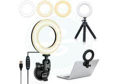 UooEA Selfie Ring Light con supporto per treppiede e ventosa, kit di illuminazione per videoconferenze 3200k-6500K | piuofferte.it Foto E Video, Usb, Selfie, Selfies